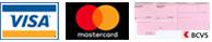 Visa, Mastercard, Virement bancaire